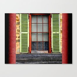 Window Shutters Canvas Print