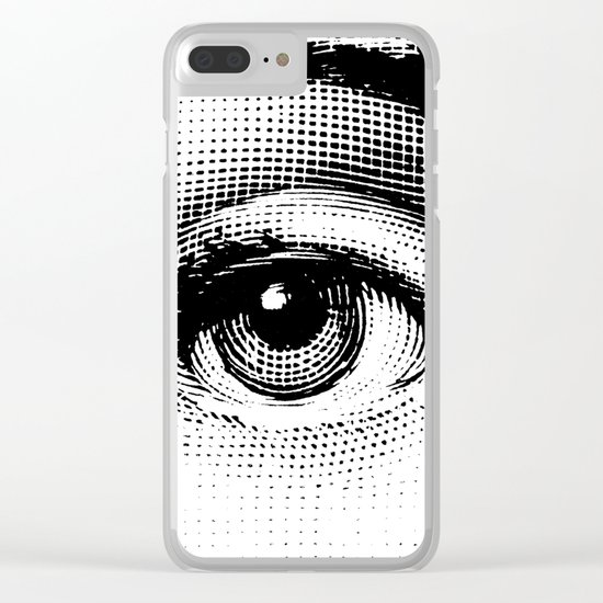 Lina Cavalieri Eye 01 Clear iPhone Case