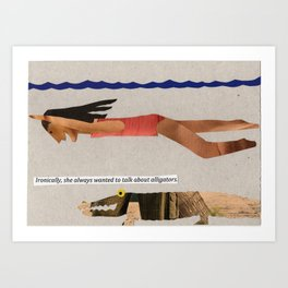 Swimming with Gators Art Print