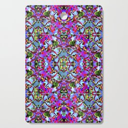 Multicolored Abstract Collage Pattern Cutting Board