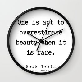 70    | Mark Twain Quotes | 190730 Wall Clock