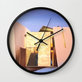 Modern Architecture. oil painting Wall Clock