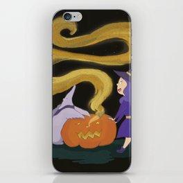 Pumpkin magic iPhone Skin