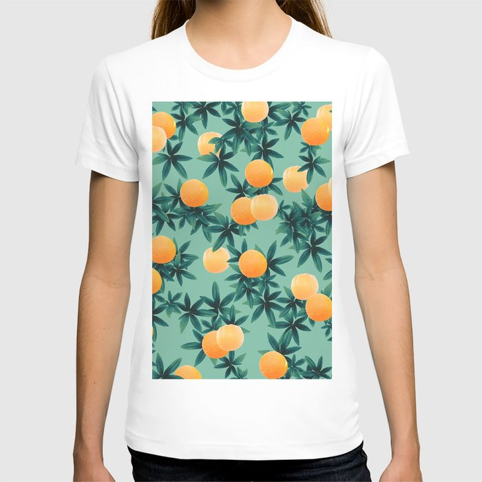Orange Twist Vibes #1 #tropical #fruit #decor #art #society6 T-shirt