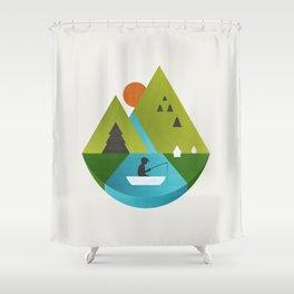 Fishing Trip Shower Curtain