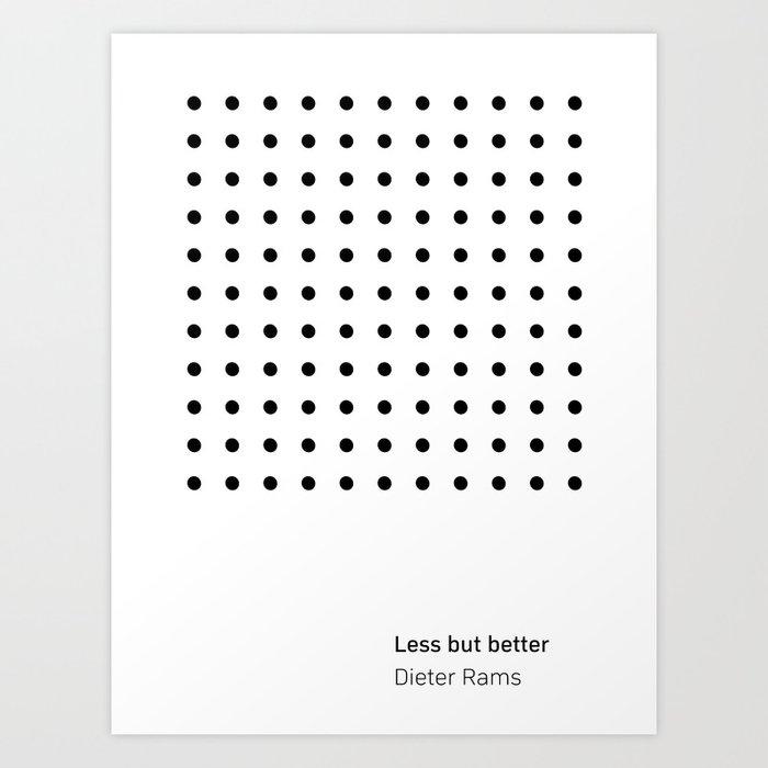 Dieter Rams Less But Better (b) Kunstdrucke