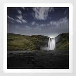Skógafoss Waterfall Iceland Art Print