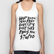GO FIND LOVE Unisex Tank Top