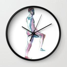 MATT, Nude Male by Frank-Joseph Wall Clock