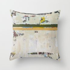 Chariot White Abstract Modern Painting Art Throw Pillow