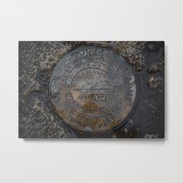 Army Corps of Engineers Survey Marker Port Washington Wisconsin Breakwater Metal Print