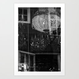 Silhouettes Mingle Art Print