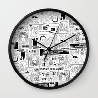 scandal Wall Clocks featuring Scandal Pattern by CLSNYC