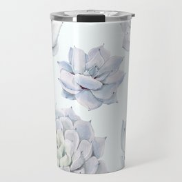 Blue Succulents Travel Mug