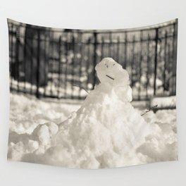 New York I - Snowman Wall Tapestry