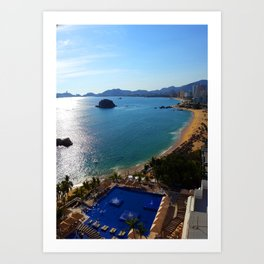Acapulco Beach Art Print