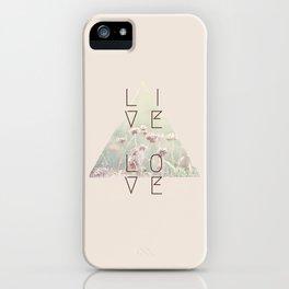 Live & Love Vintage iPhone Case
