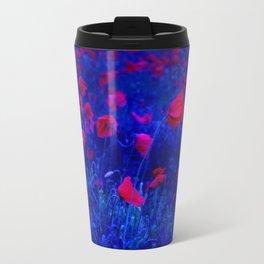 Red in Blue Travel Mug