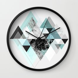 Graphic 110 (Turquoise Version) Wall Clock