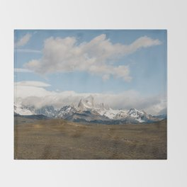 Iconic Towers of Patagonia Throw Blanket