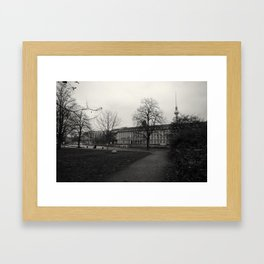 It's all black and white from here Framed Art Print
