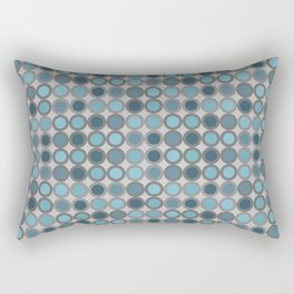 Grey blue circle 6 Rectangular Pillow