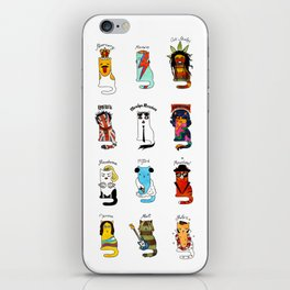 Famous Music Cats – Most Popular Musicians of the World iPhone Skin
