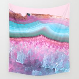 Rose Quartz and Serenity Agate Wall Tapestry