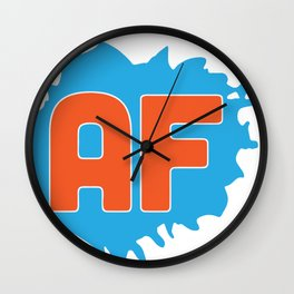 Animation Force Logo (White) Wall Clock