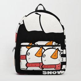 Attack of the Deranged Mutant Killer Monster Snow Goons Calvin Snowman Snowmen Christmas Funny Gift Backpack