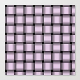 Large Pastel Violet Weave Canvas Print