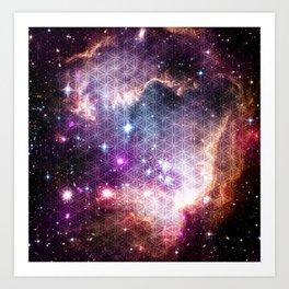 Sacred Nebula Flower Of Life Art Print