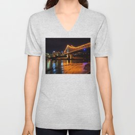 Low Tide under the Storey Bridge Unisex V-Neck