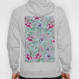 Floral Pattern Mint Hoody