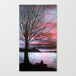 Boulevard Sunset Canvas Print