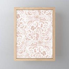 Dye Curves Peach Beige Framed Mini Art Print