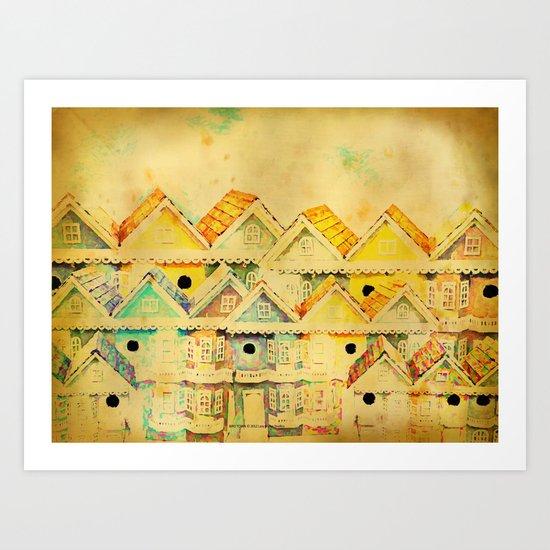 Bird Town 023 Art Print
