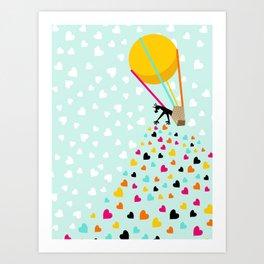 Keep spreading the love Art Print