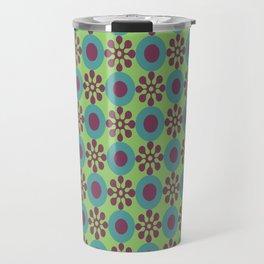 Retro Modern Flower Power Travel Mug