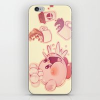 kirby iPhone & iPod Skins featuring Kirby Coffee by SweetOwls