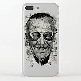 Stan Lee 02 Clear iPhone Case