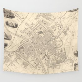 Vintage Map of York England (1851) Wall Tapestry