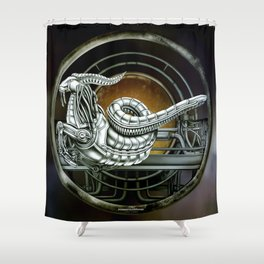 """Astrological Mechanism - Capricornus"" Shower Curtain"