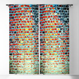 Brick Abstract Blackout Curtain