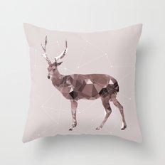 Odocoileus virginianus Throw Pillow
