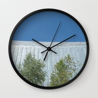 lungs Wall Clocks featuring Lungs by Mark Spence