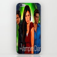 the vampire diaries iPhone & iPod Skins featuring The Vampire Diaries by Don Kuing