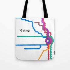 Chicago Subway Tote Bag