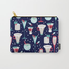 Holiday Cocktails Blue Carry-All Pouch