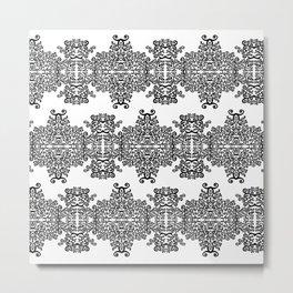 black and white vintage pattern III Metal Print